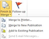 Complete the mail merge