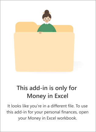 You're in the wrong file. Open the Money in Excel template.