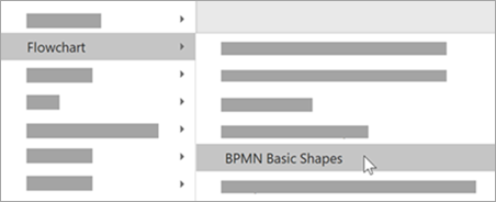 Add BPMN Basic Shapes to your shapes.
