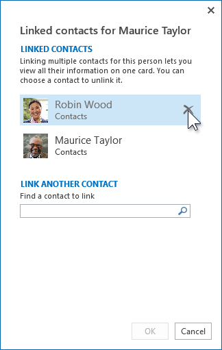 Incorrectly linked contacts
