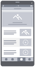 Use Wireframe Templates to design websites and mobile apps