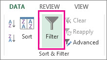 Filter button