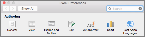 Office2016 for Mac Ribbon Toolbar Preferences