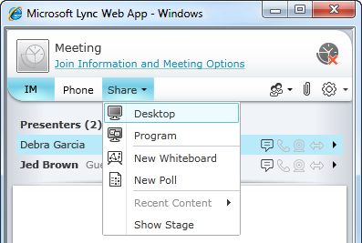 lync online meeting force web app Best practices: to join external skype for business web app to join meeting – if skype (lync) is not installed on the off-campus participants' computers.