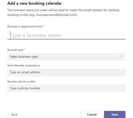 Add a new booking calendar