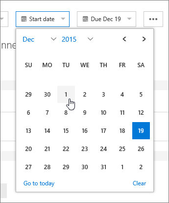 Date fields in task details