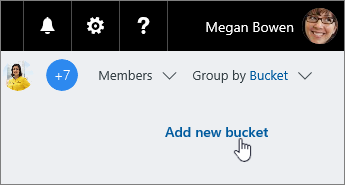 Add a task to a bucket