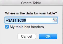 On the Insert tab, select Insert table