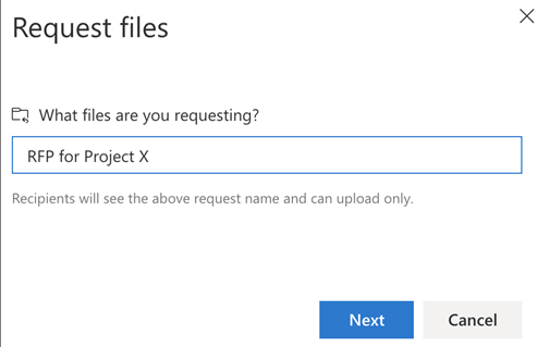 Selection of files UI