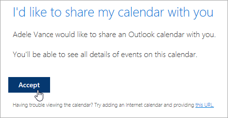 Manage someone else's calendar in Outlook on the web - Outlook