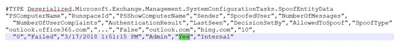Setting spoof allow to Yes via Powershell
