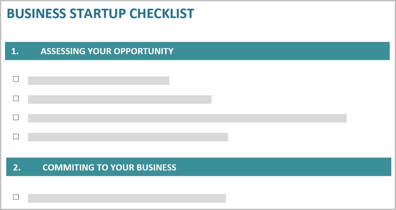 Conceptual image of a checklist