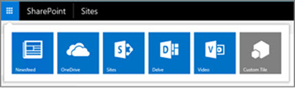Hybrid app launcher on a SharePoint Server site