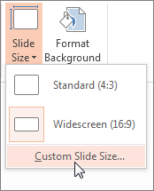 Click Custom Slide Size