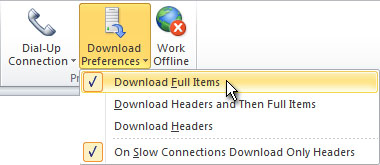 Download Preferences command in the ribbon