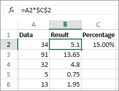 Multiple numbers by a percentage
