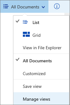 Manage Views command
