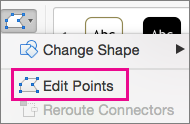 Edit Points button on the Edit Shape menu