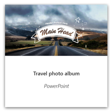 Travel photo album in PowerPoint