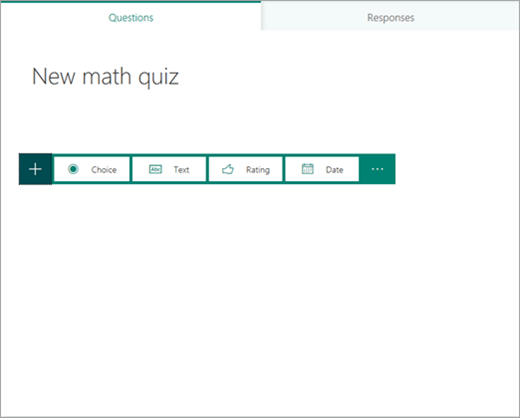 Choose question type