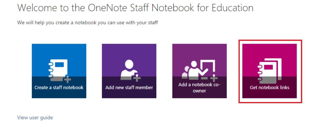 Get links to your notebooks.