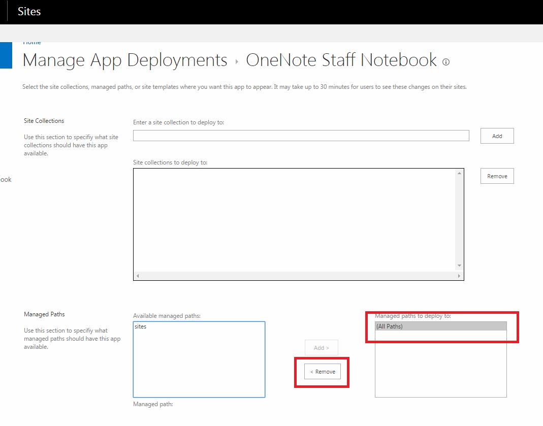 Manage app deployment