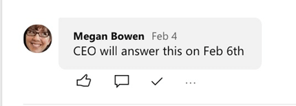 Screenshot showing best answers in Yammer