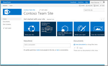 team site template - Sharepoint Design Ideas