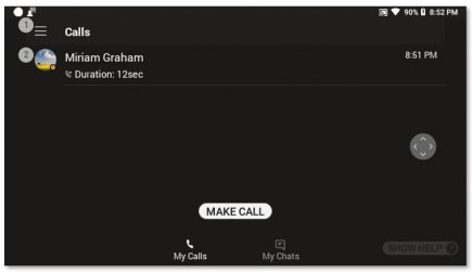 Making a call using the RealWear app in Microsoft Teams