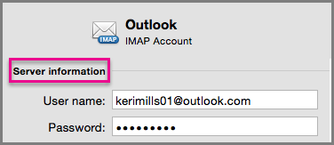 Enter your new IMAP password
