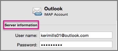 Enter your new IMAP password