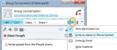 Lync Invite People