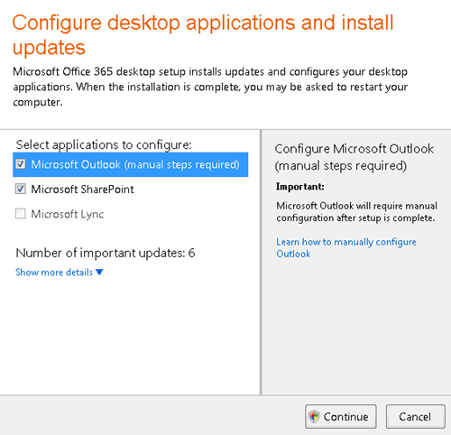 Configure desktop applications and install updates, How to fix Outlook 2010 password prompt for Office 365 email?