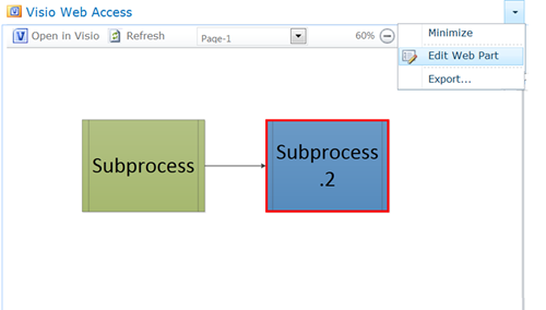 Edit a Visio Web Access web part