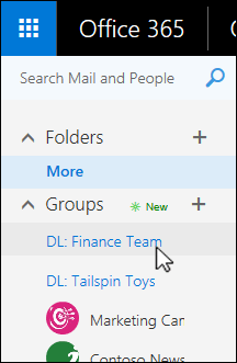 Click on the distribution list you wish to upgrade to a group