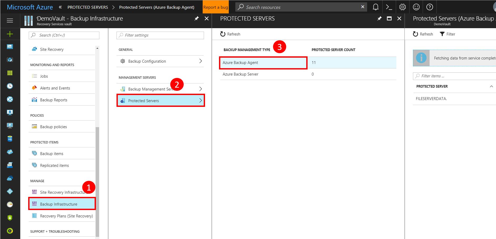 Select Backup Management Type