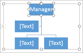 Create an organization chart office support typing in a box in a smartart graphic ccuart