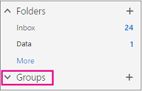 You'll find a groups node in the left nav in Outlook on the web