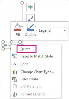 Add and format a chart legend office support delete command on the format legend font shortcut menu in excel ccuart Choice Image