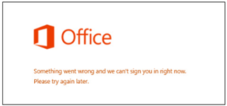 Issue signing into your Microsoft Account
