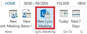 Click New Lync Meeting.