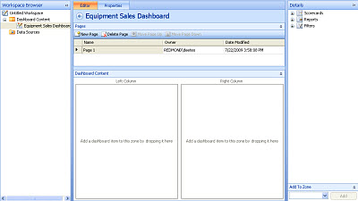 Screenshot of a completed dashboard in Dashboard Designer