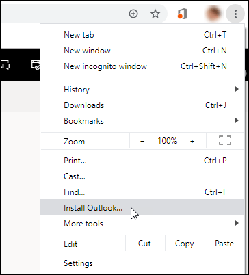 Install Outlook