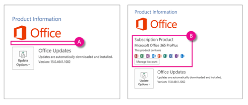 Office 365 product information
