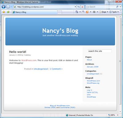 my brand new wordpress.com blog