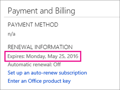 OneDrive Payment and Billing
