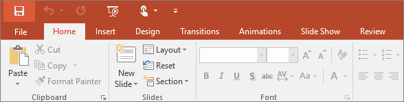 Where are the menus and toolbars? - PowerPoint