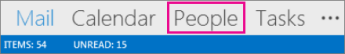 Outlook Navigation Bar - People