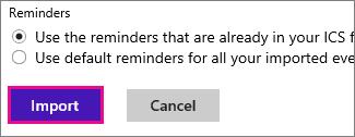 Outlook.com - click import