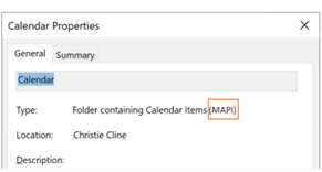 You can verify if your calendar is using the new REST interface or MAPI interface.